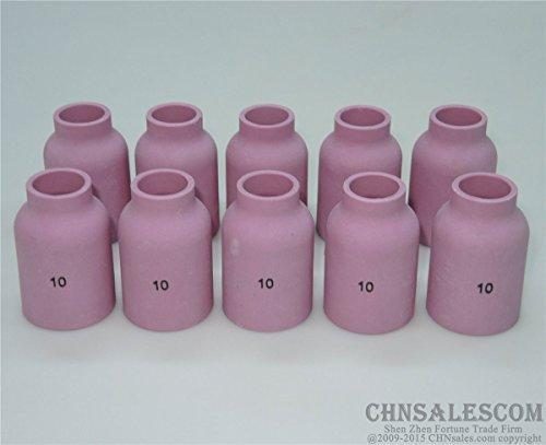 CHNsalescom 10 pcs 10# 53N88 Alumina Nozzle Large Gas Lens Cups for WP-9/20/25/17/18/26