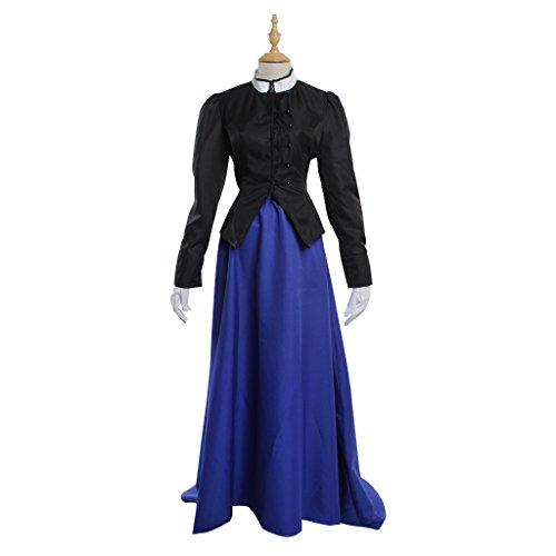 Mittelalterlichen Lang Maskerade Viktorianischen Gothic Damen Kleid Marineblau Palace Kleid Kleid Cosplayitem Kostüm Halloween ZwxAPHq6n5
