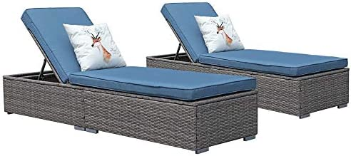 JOIVI Wicker Chaise Lounge Outdoor