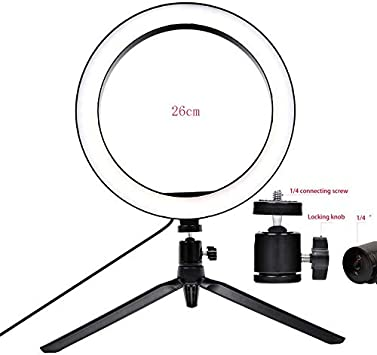 Vbestlife Led Ring Light Photography Dimmable LED Video Live Studio Camera Ring Light Photo Phone Video Light