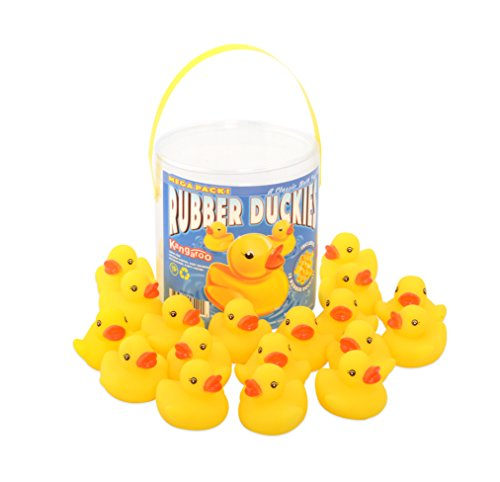 Kangaroo's 18 Piece Rubber Duck Baby Bath Toy in a (Duck Bath Toy)