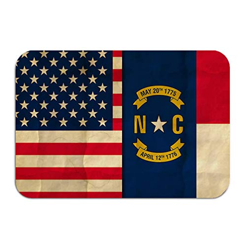 - YILINGER Place Mats Washable Fabric Placemats for Dining Room Kitchen Table Decor 23.6x15.7 USA Flag Flag North Carolina Crumpled Paper North Caroli