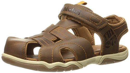 Leather Bluff (Timberland Boys' Oak Bluffs Leather Fisherman Sandal, Rust Nubuck, 7 M US Toddler)
