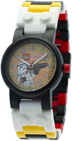 LEGO Kids' 9002922 Star Wars Stormtrooper Watch with Link Bracelet and Minifigure
