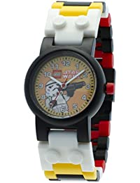 LEGO Star Wars Stormtrooper Kids Buildable Watch with Link Bracelet and Minifigure | black/white | plastic | 28mm case diameter| analog quartz | boy girl | official