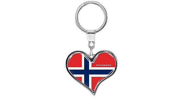 metALUm Llavero de Metal/Bandera la Noruega / 6611021S ...
