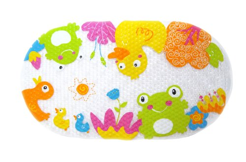 Elfa (El Faro) non-slip bath mat with suction cups Frog & Ducky EZ1327 (japan import)