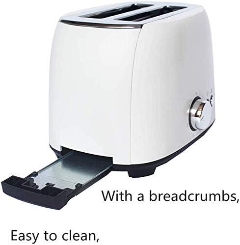 2 Toasters, Home Volledig Automatische Toaster Wide Slot, Spit Driver Afneembare Crumb Tray, Kan worden gebruikt als een geschenk leilims