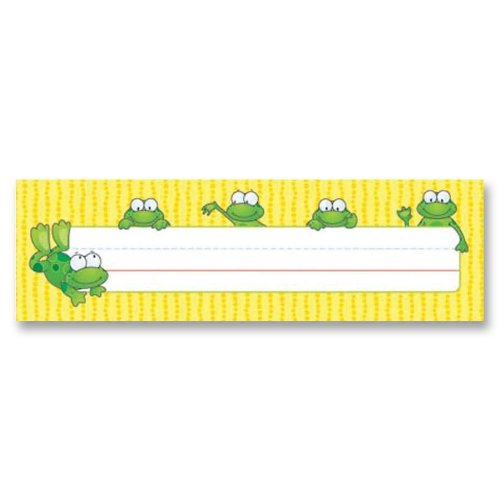 (Carson-Dellosa Publishing : Desk Nameplates, Frogs, 9 1/2 x 3, 36/Set -:- Sold as 2 Packs of - 36 - / - Total of 72 Each)