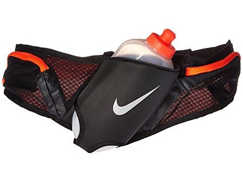 Nike Running Large 20 oz Flask Hydration Running Belt ( Black / Crimson) Adjustable Unisex