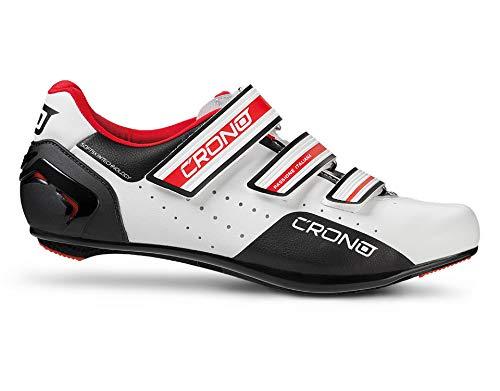 CRONO DINAMICA Herren Rennradschuhe Fahrradschuhe Radsportschuhe mit Carbon Sohle und Klettverschlüssen