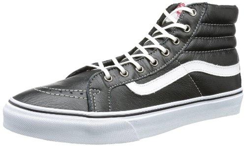 Vans Womens SK8-Hi Slim Leather Black/True White Sneaker Size 5 Men's, Womens 6.5