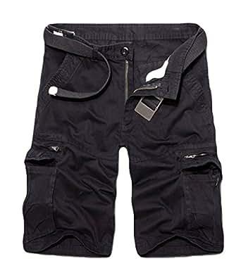 Quge Hombre Clásico Pantalones Cortos De Carga Bermuda Pantalón Corto Verano Casual Deporte Shorts 2NRRSlUJ7