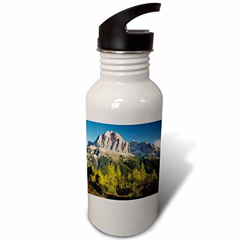 3dRose Danita Delimont - Mountains - Dawn over Tofana de Rozes, Dolomite Mountains, Veneto, Italy - Flip Straw 21oz Water Bottle (wb_277558_2) by 3dRose