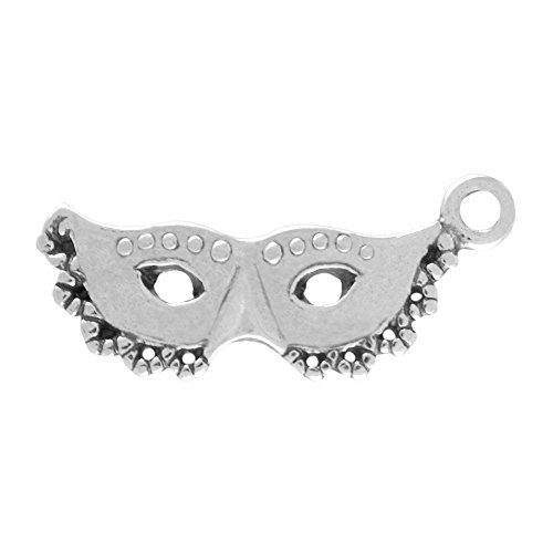 (Sterling Silver Masquerade or Mardi Gras Mask Charm Item)