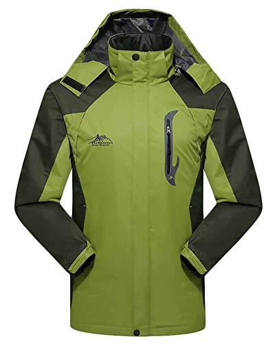 Capucha Chaqueta Softshell Pasto Mujer Al Aire Impermeable Ropa Quge Masculino Con Deportiva Verde Hombre Abrigo Libre EXHFwSq