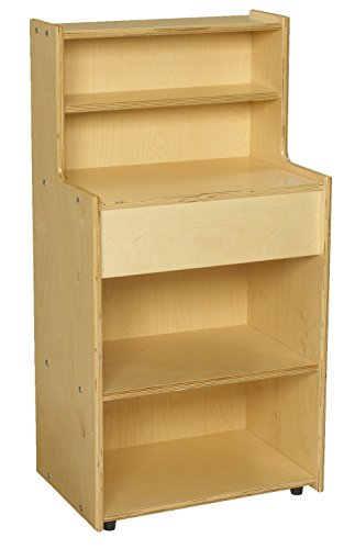 Childcraft 1526421 ABC Furnishings Kitchen Hutch and 2 Shelves, 36.5