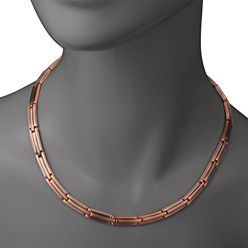 Viterou Mens Pure Copper Magnetic Therapy Necklace With