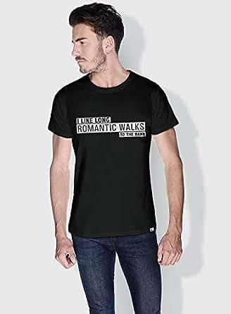 Creo I Like Long Romantic Walks Funny T-Shirts For Men - L, Black