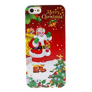Christmas Series Father Christmas with Many Gifts Pattern Hard Case for iPhone 5/5S