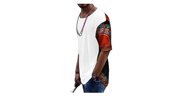 Amazon.com  Jaycargogo Men s Short Sleeve African Print Dashiki T-Shirt Casual  Tops 13 M  Clothing 9eae4e1165929