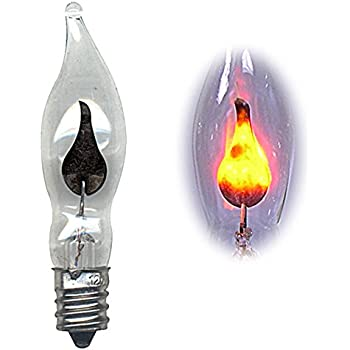 Flicker flame light bulb imitates the look of a flickering candle pkg 10 arts Flickering light bulbs
