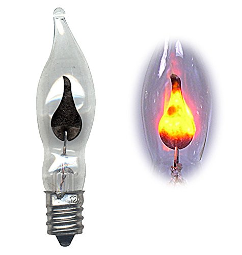 National Artcraft Flicker Flame Light Bulb Dances with a Flickering Orange Glow (Pack of 10)