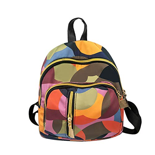 SMALLE ◕‿◕ Backpack Purse for Women, Women Mini Backpack Waterproof Oxford Anti-Theft Rucksack Lightweight Shoulder Bag