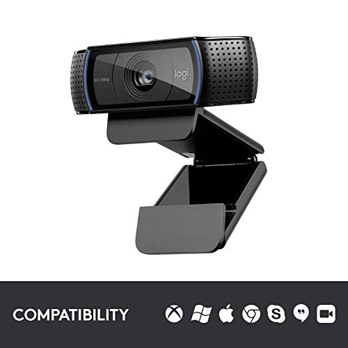 Logitech, C920 HD Pro Webcam, Full HD 1080p Video Calling