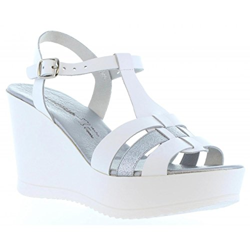Chaussures compensées pour Femme CUMBIA 30132 BLANCO-PLATA