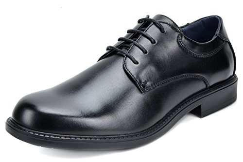 Bruno Marc Men's Downing-02 Black Leather Lined Dress Oxfords Shoes - 13 M US