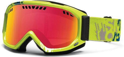 Smith Optics Scope Goggle (Lime Mission Frame, Red Sensor Mirror Lens), Outdoor Stuffs