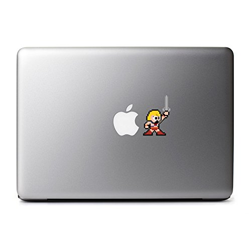 Retro 8-Bit He-Man Decal from Masters of the Universe for MacBook, iPhone 5S, Samsung Galaxy S3 S4, Nexus, HTC One, Nokia Lumia, (70s Tv Characters)