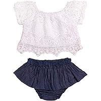 Baby Girl Clothes Baby Girl Lace T-Shirts Tops+Denim Shorts Pants Tutu Skirt Kid Summer Clothing Short Set 2PCS