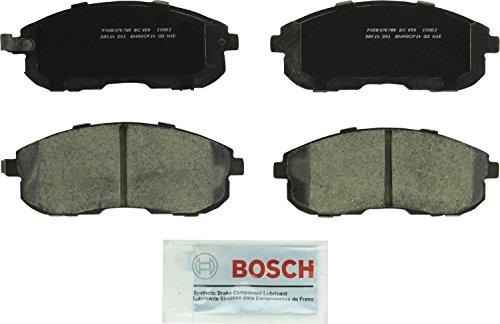 Bosch BC653 QuietCast Premium Ceramic Disc Brake Pad Set For Infiniti: 1999 G20, 1996-1999 I30; Nissan: 1995-1999 Maxima; Suzuki: 2007-2008 SX4; Front ()