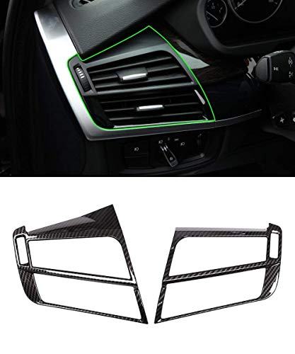 TongSheng Car Side Air Conditioning Outlet Vent Cover for BMW X5 F15 X6 F16 2014-2017 Carbon Fiber Style Accessories 2Pcs/Set