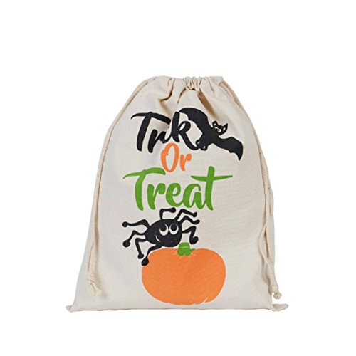DRACLE Halloween Witches Candy Bag Gift Bag Bundle Pocket Drawstring Storage Bag (C 1) - Paper Bag Princess Dragon Costume