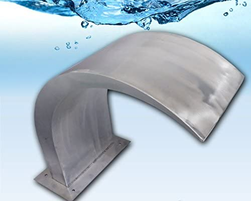 Acqua Alegra: Cañón Chorro cascada de acero inoxidable pulido para piscina pool. Catarata de agua