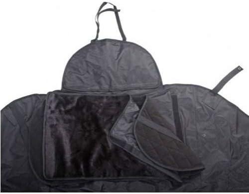 Compatible avec Piaggio Liberty 125 S i-Get ABS 2019 19 Tablier Etanche OJ JFL-TL Couverture Thermique pour Scooter avec Doublure DOUBL/ÉE ET Cheveux SYNTH/ÉTIQUES Pro Leg Noir