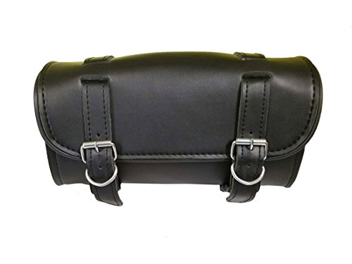 Synthetic Leather Motorcycle Gear Pvc Waterproof Tool Bag Plain (Motorcycle Fork Bags)