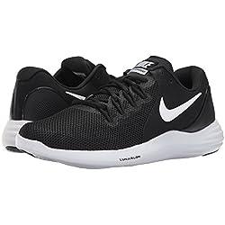 Nike Mens Lunar Apparent Running Shoe Black/White-Cool Grey 10