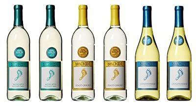 Barefoot Cellars California Heart and Sole White Wine Mixed Pack, 6 x 750 mL by Barefoot Wine & Bubbly