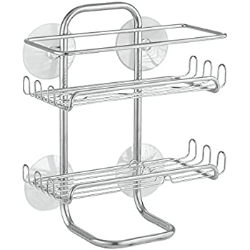 Amazon.com: InterDesign Classico Suction Bathroom Caddy - Shower ...