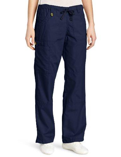 WonderWink Women's Scrubs  Cargo Pant, Navy, X-Large/Petite (Elastic Uniform Drawstring Scrub)