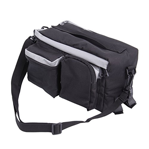 PanelTech Bicycle Cycling Sport Rear Rack Seat Trunk Bag Bike Mountain Handbag Storage Expanding Carry Strap Portable Shoulder Saddle Bag with Water Holder by PanelTech