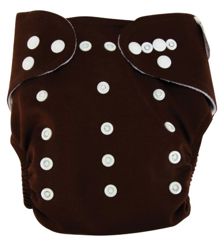 Trend Lab Cloth Diaper, Chocolate with White Liner
