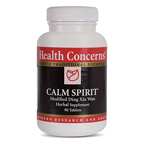 Health Concerns – Calm Spirit – Modified Ding Xin Wan – Chinese Herbal Supplement – Helps Alleviate Stress-Associated Emotions – with Taurine – 90 Tablets per Bottle