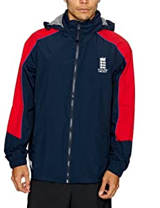 ECB England Cricket Men's Panel Rain Jacket - Navy/Red ...