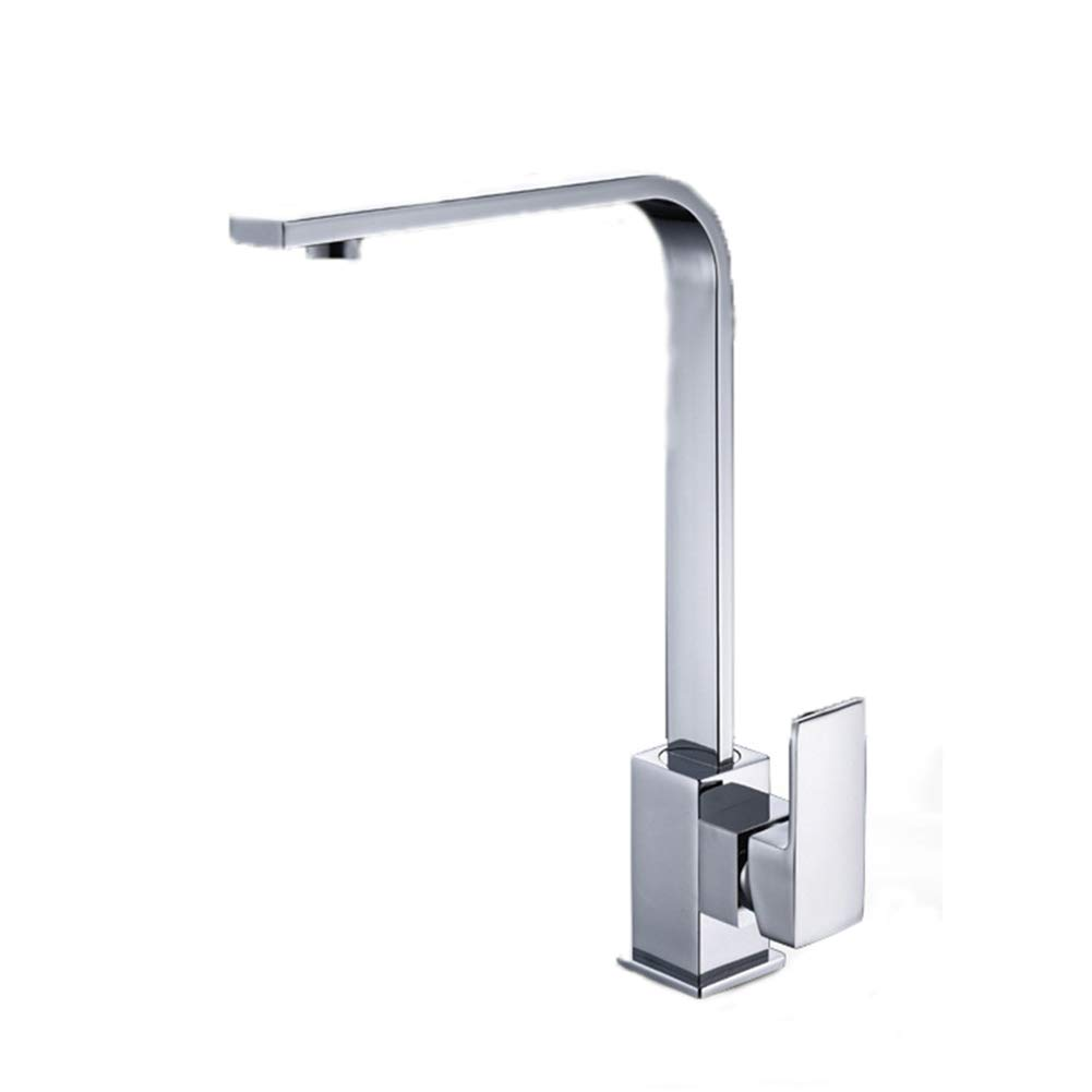 Kitchen Sink Faucet, Single Handle Basin Faucet Bathroom Faucet Deck Mounted Brass Mixer Tap,Hot and Cold Water Mixing Faucet
