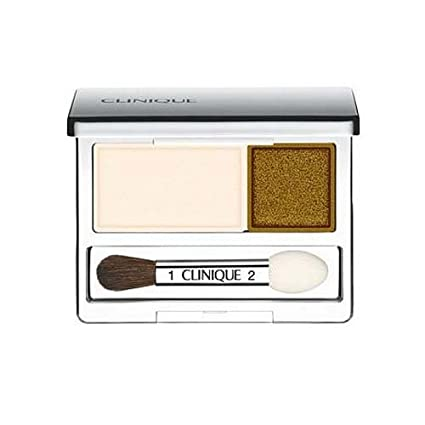Clinique All About Crease and Fade Resistant Eye Shadow Duo – 0.07 Oz Ivory Bisque Bronze Satin